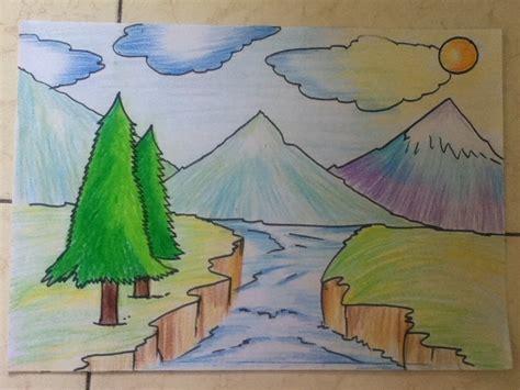 beautiful landscape drawing  beginners art