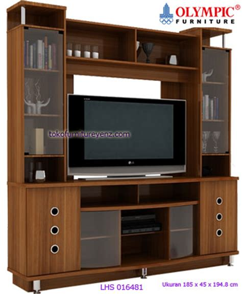 Lemari Tv Olympic Furniture harga lemari tv olympic lhs 016481 limitted sale
