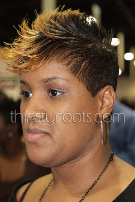 2 toned colored natural afirican american styles two tone short hairstyles to download african american two