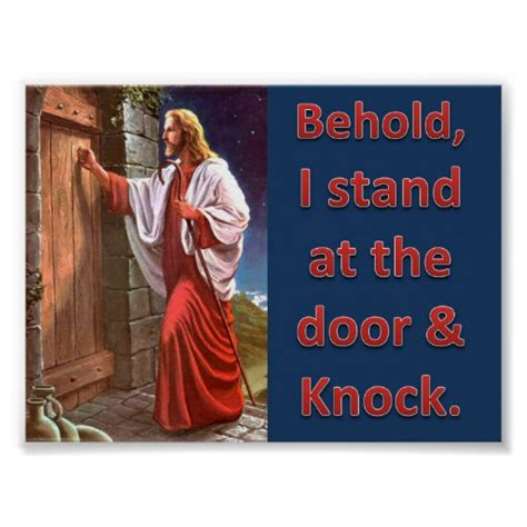 I Stand At The Door by Behold I Stand At The Door Knock Poster Zazzle