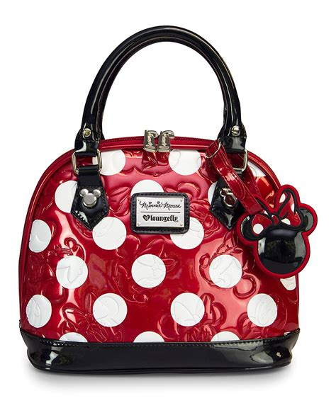 polka dot minnie mouse mini embossed bag zulily