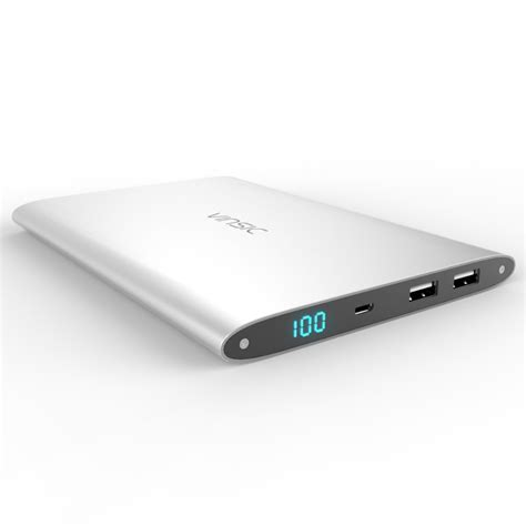 vinsic ultra slim 20000mah dual usb 2 1a 1a power bank external mobile battery charger jpg