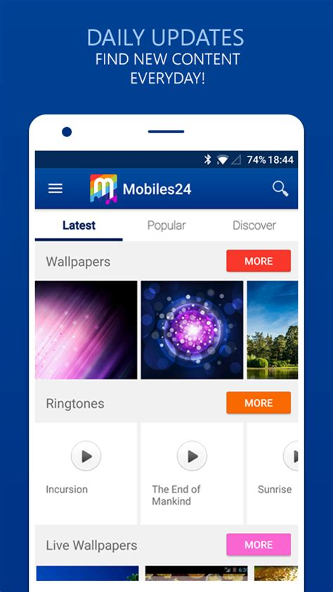 ringtone themes wallpaper download ringtones wallpapers themes mobiles24 android apps