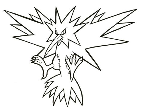 pokemon zapdos coloring pages zapdos lineart 145 by articwolfspirit on deviantart