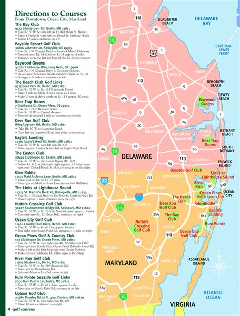 maryland area map city md golf play golf in oc area golf map