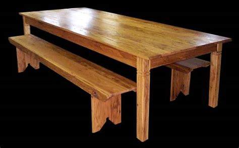 harvest table bench log cabin or office furniture harvest table