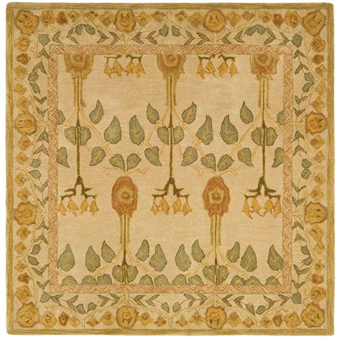 Square Wool Rugs by Safavieh Anatolia Ivory 6 Ft X 6 Ft Square Area Rug
