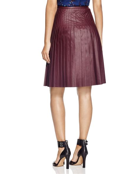 faux leather pleated skirt bloomingdale s