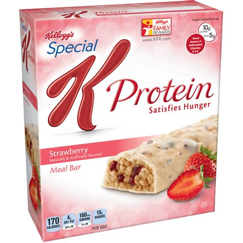 k protein special special k strawberry protein meal bar 6 count box