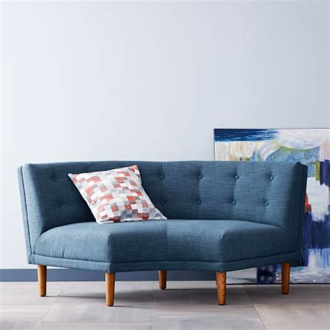 Rounded Retro Curved Sofa West Elm