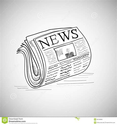 doodle 4 news doodle style newspaper illustration in vector stock