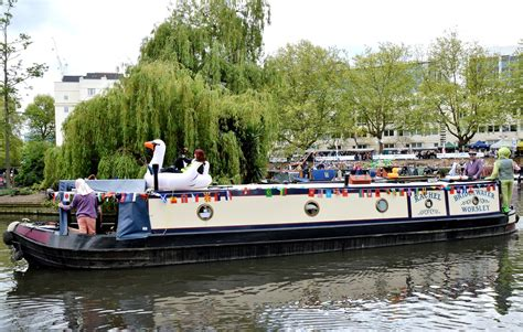 canal boat canal boat cavalcade 2017 at little venice picture this uk