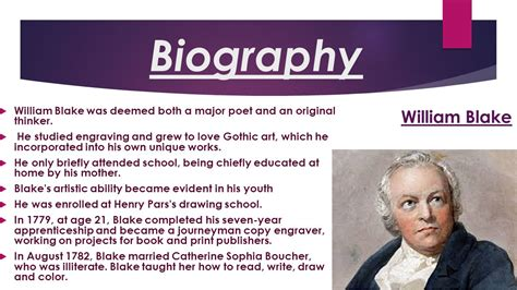 biography of william blake poem mad song by william blake ppt video online download