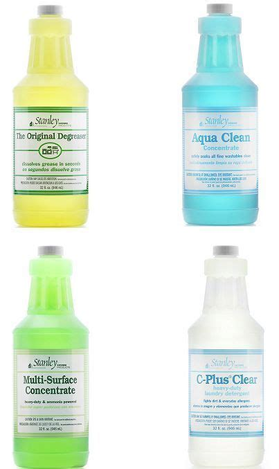 4 cleaning products from stanley home products
