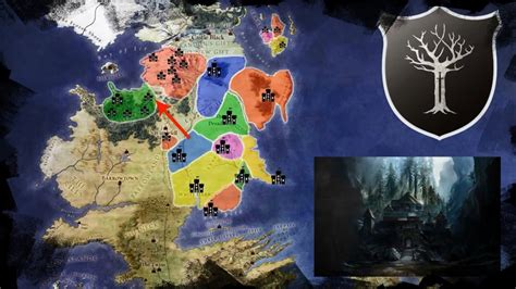 houses of the north map of the known houses of the north their history and tour through winterfell youtube