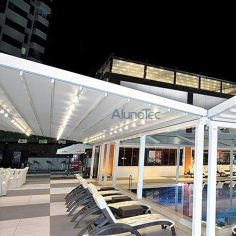 retractable awning supplier china fabric retractable awning canopy with led lights