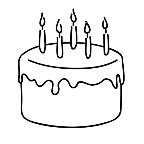 clip art birthday cake coloring page abcteach