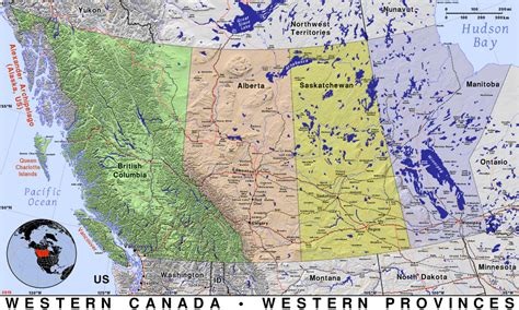 northern us canada map