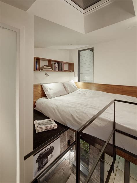 Bed Loft by 1916 Brick Boiler Room Reved Into A Tiny Guest Apartment