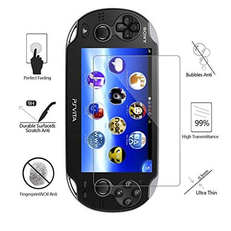 Quality Screen Tempered Glass For Ps Vita Slim Hori pack of 2 screen protector for ps vita 1000 akwox premium hd clear 9h tempered glass screen