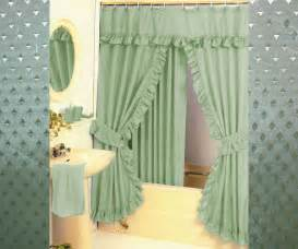 pattern fabric swag shower curtain set