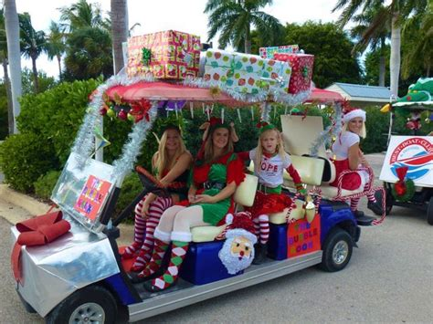 golf carts decerated for christnas cutest golf cart parade i shelling