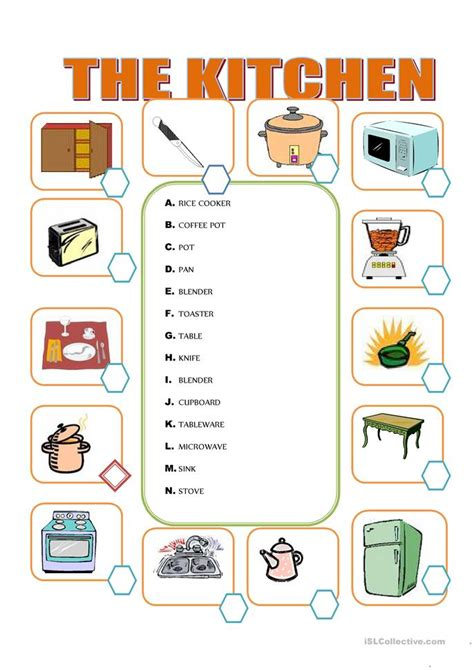 Furniture In The Kitchen 50 000 Free Esl Efl Worksheets Made By Teachers For Teachers