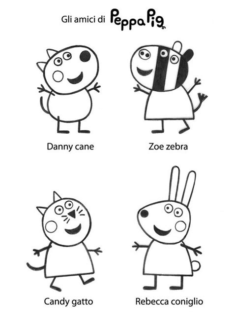 peppa pig and friends coloring pages free coloring pages of peppa pig peppa