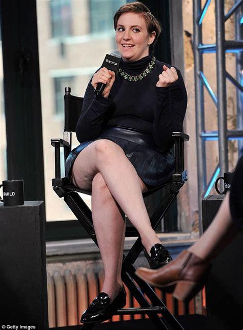 lena dunham new york interview lena dunham shows her casual cool style in a tri colour
