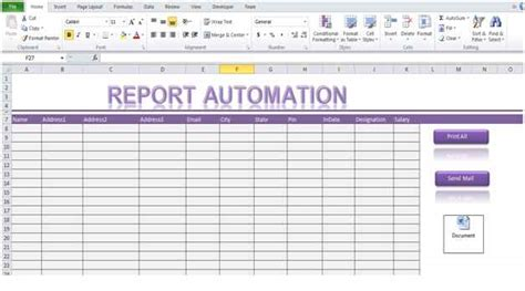 excel macros templates report automation template using excel macro
