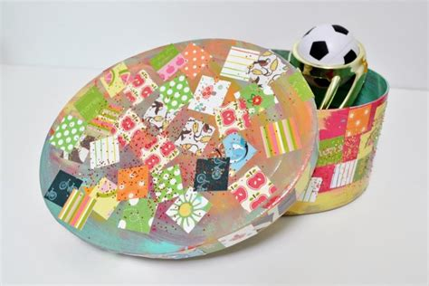 Easy Decoupage Ideas - easy craft decoupage treasure box mod podge rocks