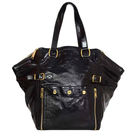 Ysl Rive Gauche Tote by Ysl Yves Laurent Rive Gauche Large Black Patent
