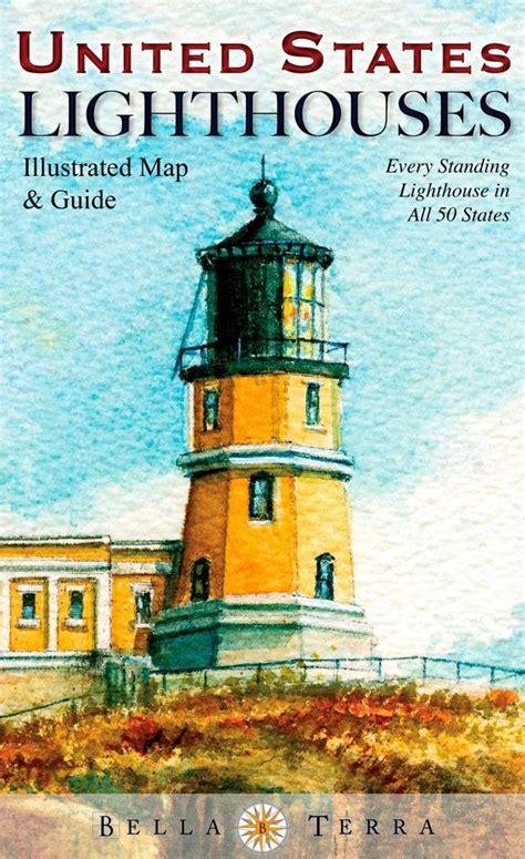 map of maryland lighthouses united states lighthouses illustrated map guide ebay