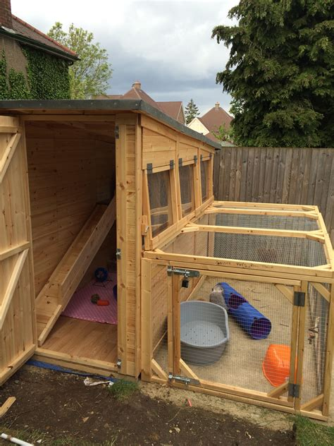Rabbit Shed Ideas by 8x4x6 5ft Rabbit Shed With A 8x4x3ft Rabbit Run