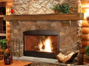 Log Surrounds Cool Fireplace Mantels For Interior Design