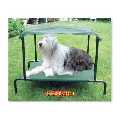dog outdoor bed puppywalk breezy bed outdoor dog bed green 42 quot x 30 quot x 32 quot