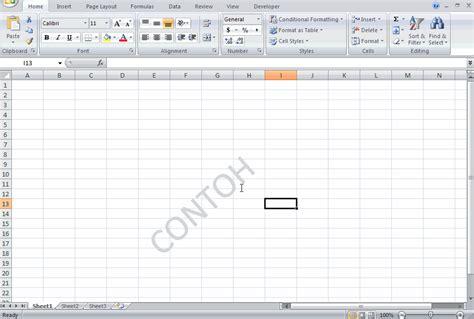 cara membuat watermark page di excel cara membuat watermark dalam excel