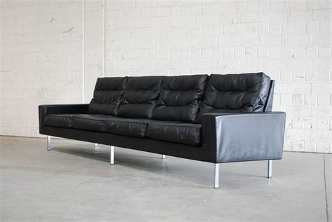 4 seater leather sofas sale vintage black leather 4 seater sofa from de sede 1967 for