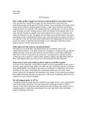 Exle Of Self Assessment Essay by Modal Title