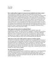 Sample Self Assessment Essay Modal Title