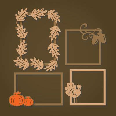 Svg Files For Silhouette Sizzix Sure Cuts A Lot And Make | autumn frames svg collection svg files for silhouette