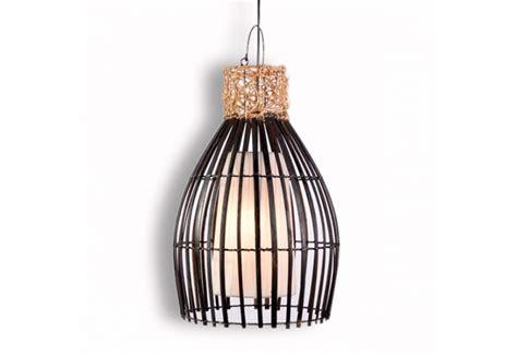 Luminaire Exotique Bambou by Suspension Exotique En Bambou Et Rotin H 52 Cm Pour Salon