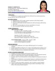 Resume Format Sle For Nurses In The Philippines Cv Format Pdf Cv Format Pdf Will Give Considerations And
