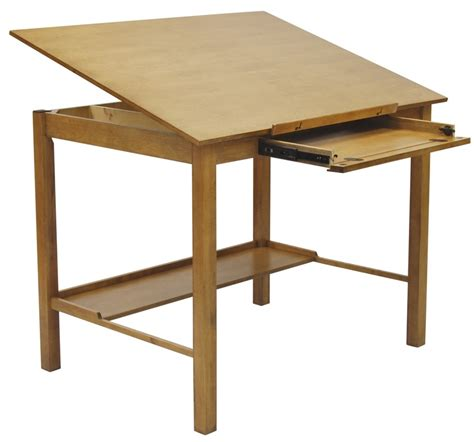Americana Ii 48 W X 36 D Wood Drafting Table With Drafting Table Angle