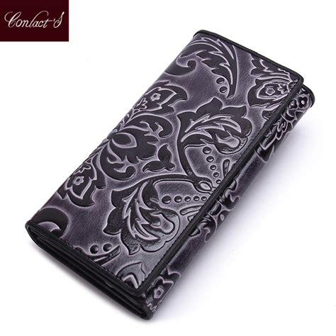 Cluth Fashion 1 clutch fashion floral print 100 genuine leather wallet purse design wallets