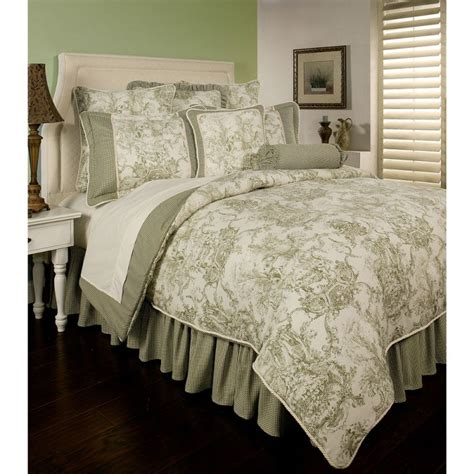 green comforter sets sherry kline toile green 6 piece comforter set comforter sets