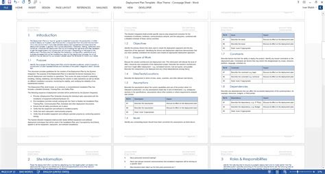 deployment plan template deployment plan template