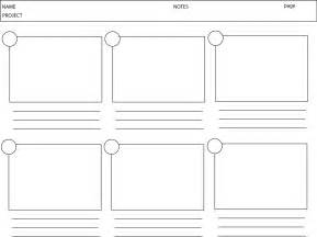 Storyboarding Template by 2 Learn 2