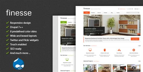 finesse responsive business drupal theme by tabvn