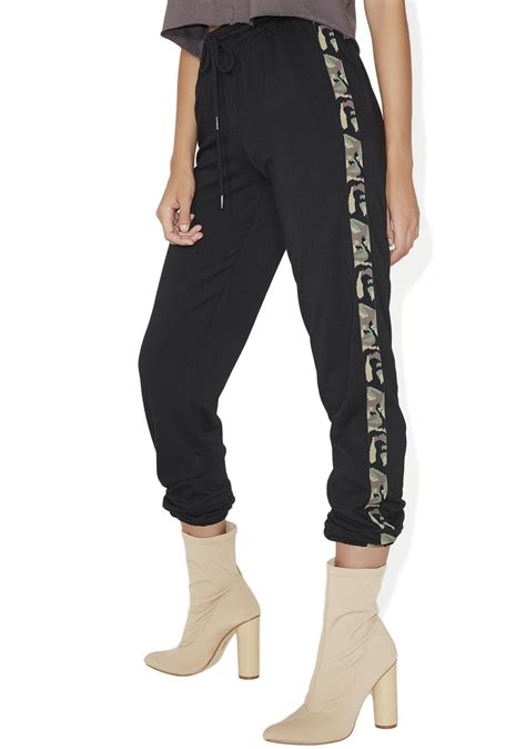 Striped Jogger Sweatpants camoflauge stripe jogger sweatpants dolls kill
